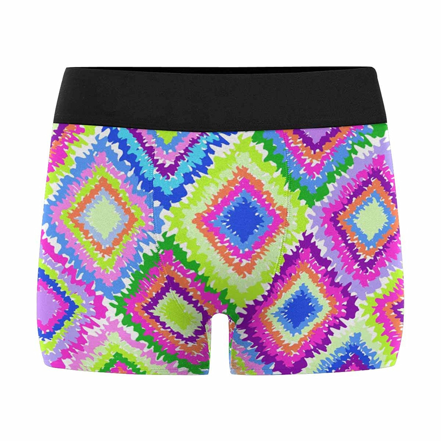 XS-3XL INTERESTPRINT Mens Boxer Briefs Underwear Musical Seamless Grunge Background