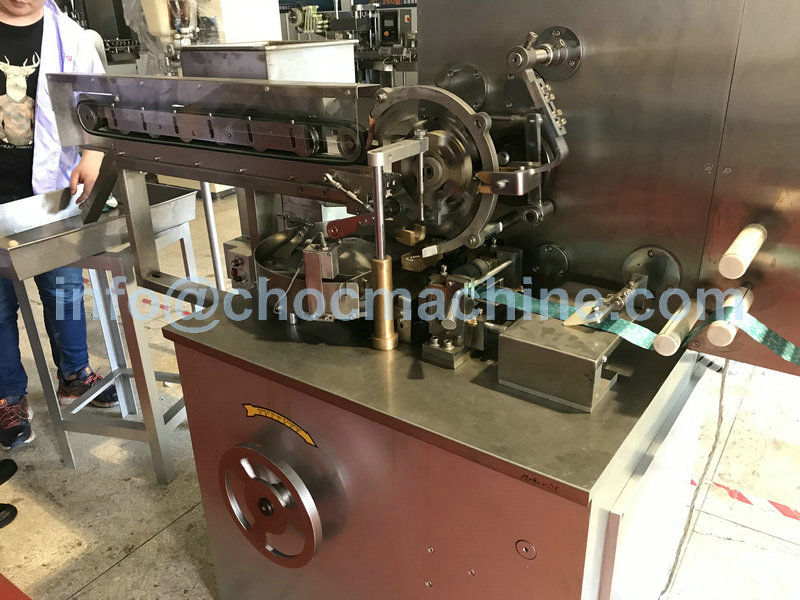 square chocolate fold wrapping machine