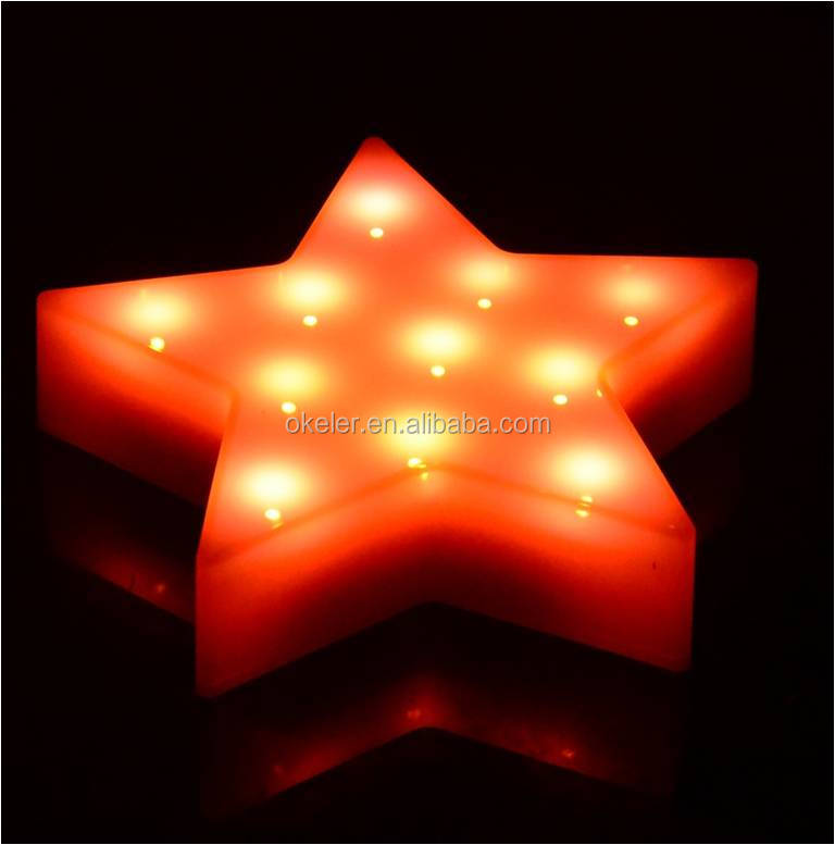 Christmas Star Holiday LED Light Decorations Powered by AAA Battery