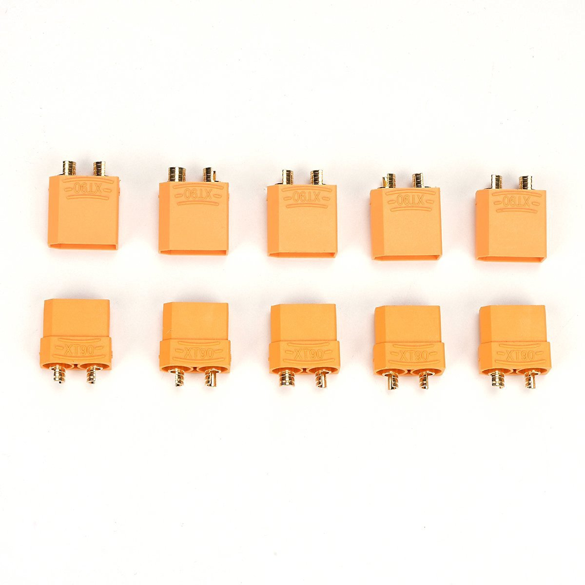 H88 10 pcs XT90 Banana Plug Bullet Connector 8AWG For RC LiPo Battery