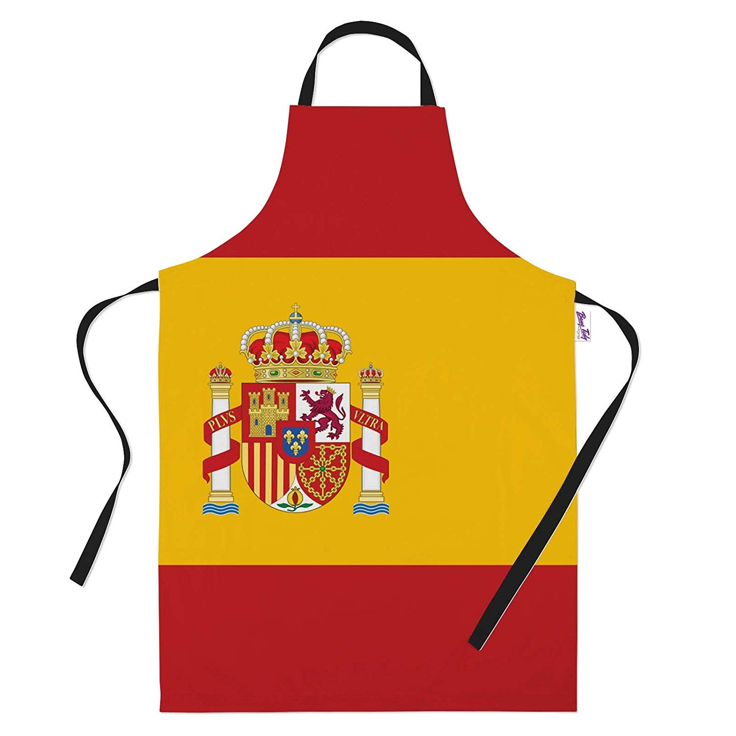 a9010c4d36a Get Quotations · Funny Aprons for Men Spanish Flag BBQ Cooking Apron Kitchen  Gift