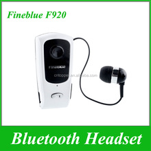 2017 Wholesale Earphone Wire Fineblue F920 Retractable Stereo Bluetooth Headset for iPhone 6 Samsung HTC Mobile Phone Headphone