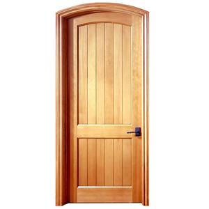 Prettywood Custom Apartment Entrance Solid Wood Frame Arched Main Door Design