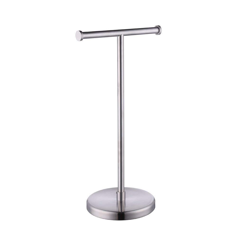 Kes SUS304 Stainless Steel Bathroom Lavatory Pedestal Toilet Paper Holder and Dispenser Free Standing, Brushed, BPH280S2-2