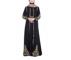 New Muslim women robe hot stamping dress with two sets and robe kaftan abaya slim muslim party dress