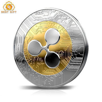 Cryptocurrency Ripple Coin Commemorative Round Shape