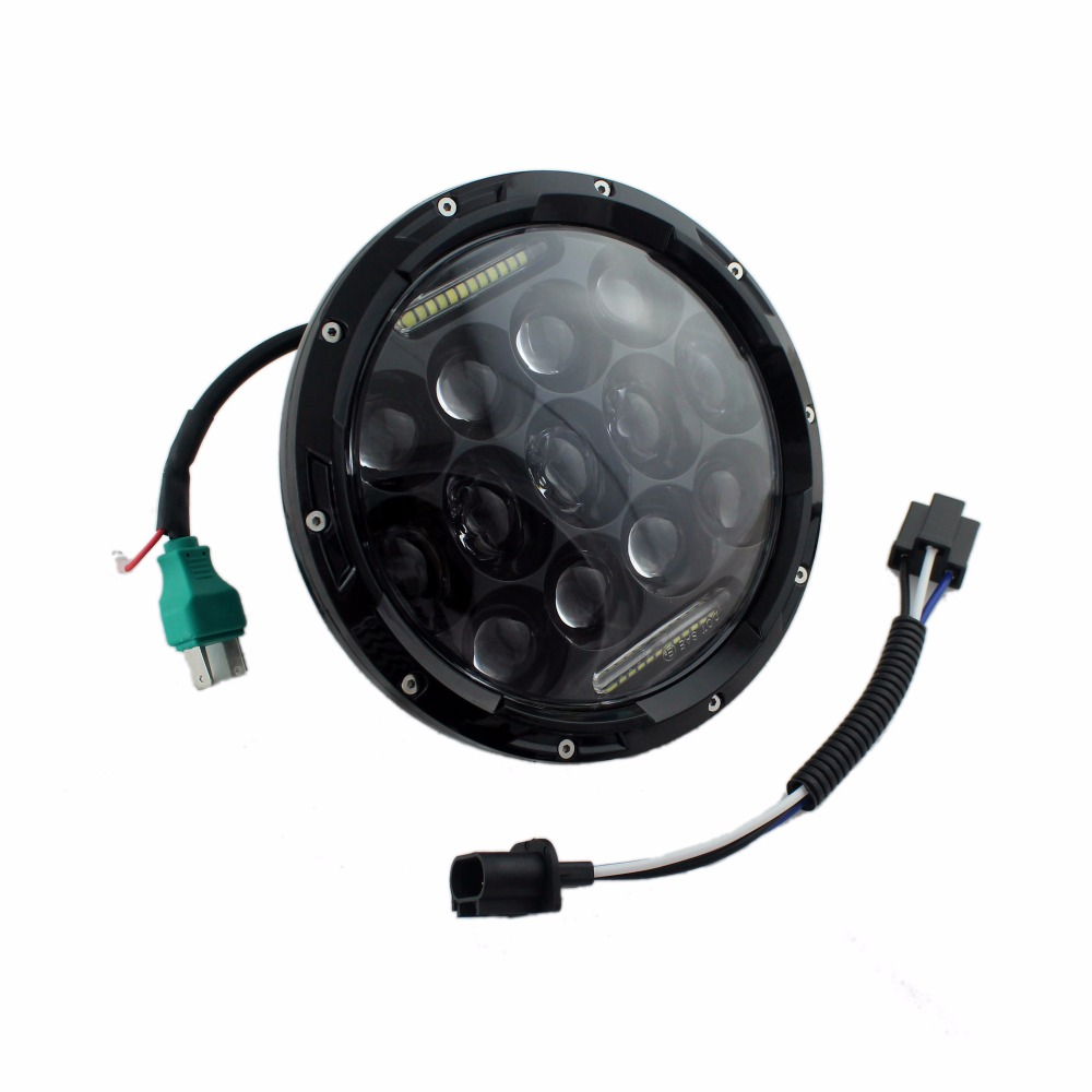 2017 factory price Round 75W 7 Inch Led Headlight For JK TJ FJ Hummer Trucks Motorcycle IP67 J eep Wrangler