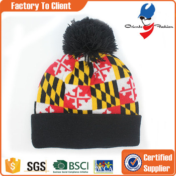 d63dcee86f1 Custom Puffball Winter Wool Beanies Hat - Buy Winter Beanies ...