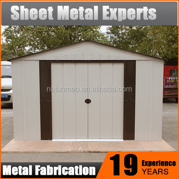 metal outdoor tool storage garden sheds for sale prefab steel warehouse shed buy shed product on alibabacom