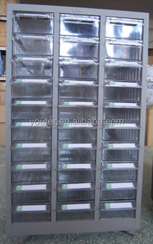 30 Drawers Parts Storage Cabinet With 4 Wheels