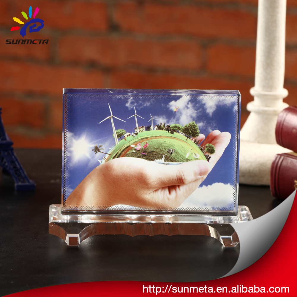 sublimation crystal frames photo gift trophy crystal