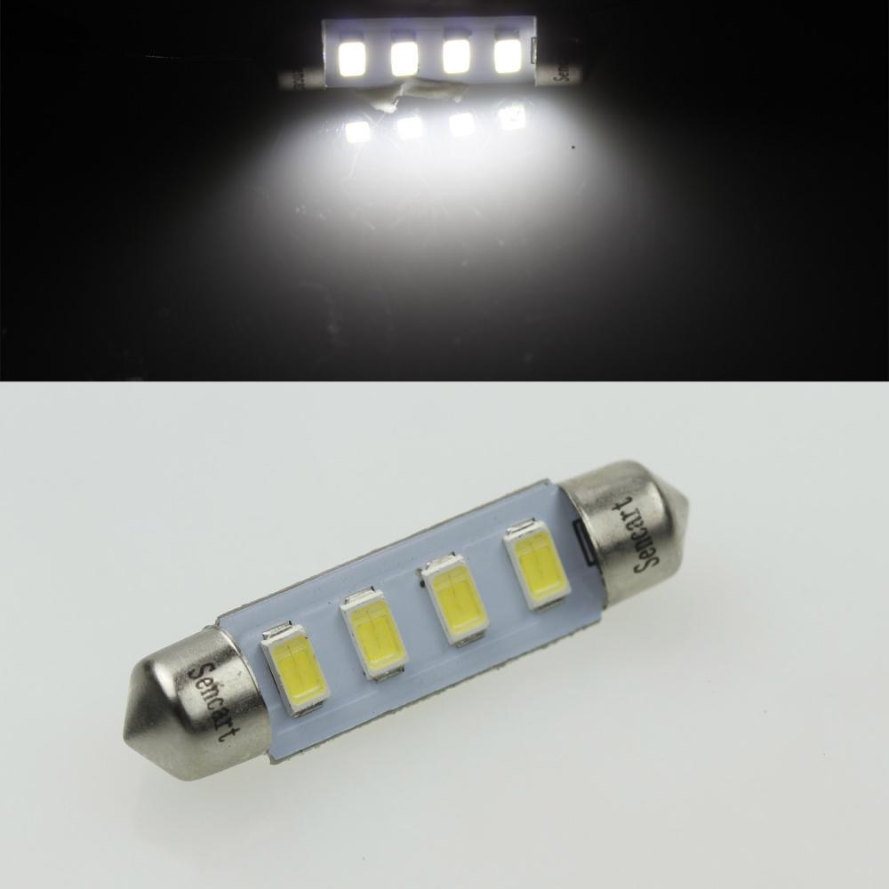 42 мм SV8.5-8 41 мм 4SMD 5730LED 2 Вт холодный белый 120-180LM 7000 - 9500 К AC12-16V номерного знака лампы для чтения автомобилей купол свет