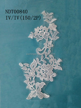 100% polyester apparel use african lace fabrics for wedding dress bridal gown