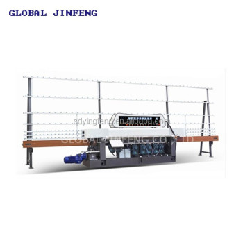 JFE-9243 Ce Vertical Glass Straight Line Edging Machine with 9 Motors
