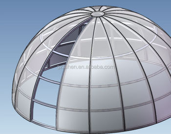 Custom Made Large Polycarbonate Skylight Dome With Steel