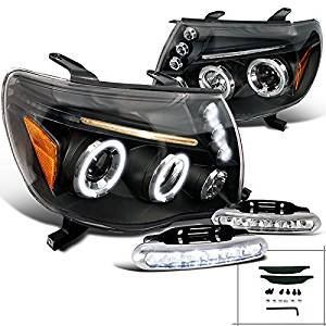 Get Quotations Toyota Tacoma X Pre Runner Black Halo Projector Headlights Led Per Drl Set