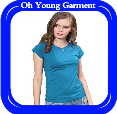 100% cotton women clothing of high quality,blank design t shirt for ladies