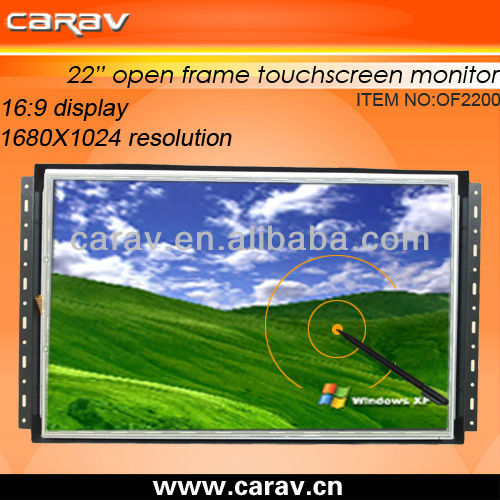 "CARAV NEW Open Frame lcd monitor 22"" LCD touch screen (OF2200),high resolution 1680x1050"