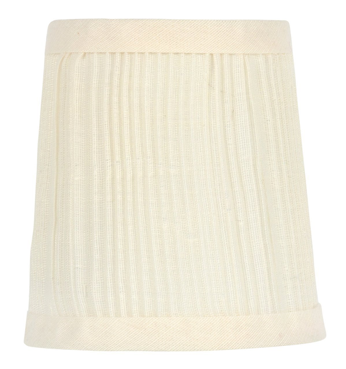 Upgradelights 4 Inch Pleated Drum Chandelier Lamp Shade Clip in Eggshell (set of two) 3x4x4