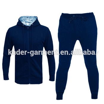 custom logo fitted tracksuit hoody mens sport suit tracksuit