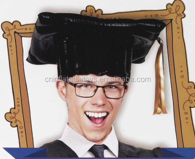 Factory display Inflatable cap , hats graduation