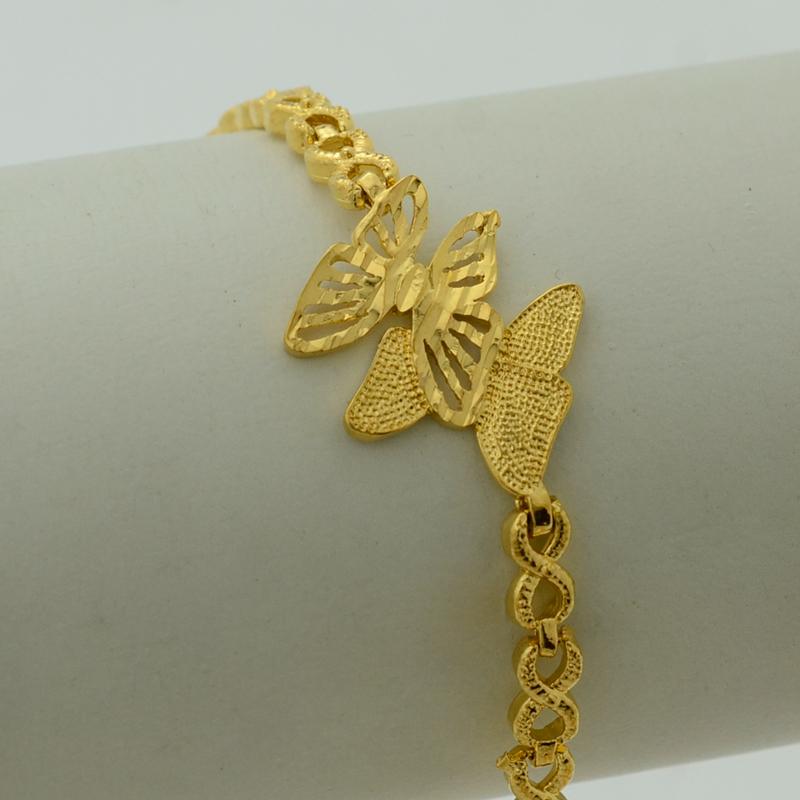 17-5cm-Gold-Butterfly-Bracelet-Bangle-Women-22K-Gold ...