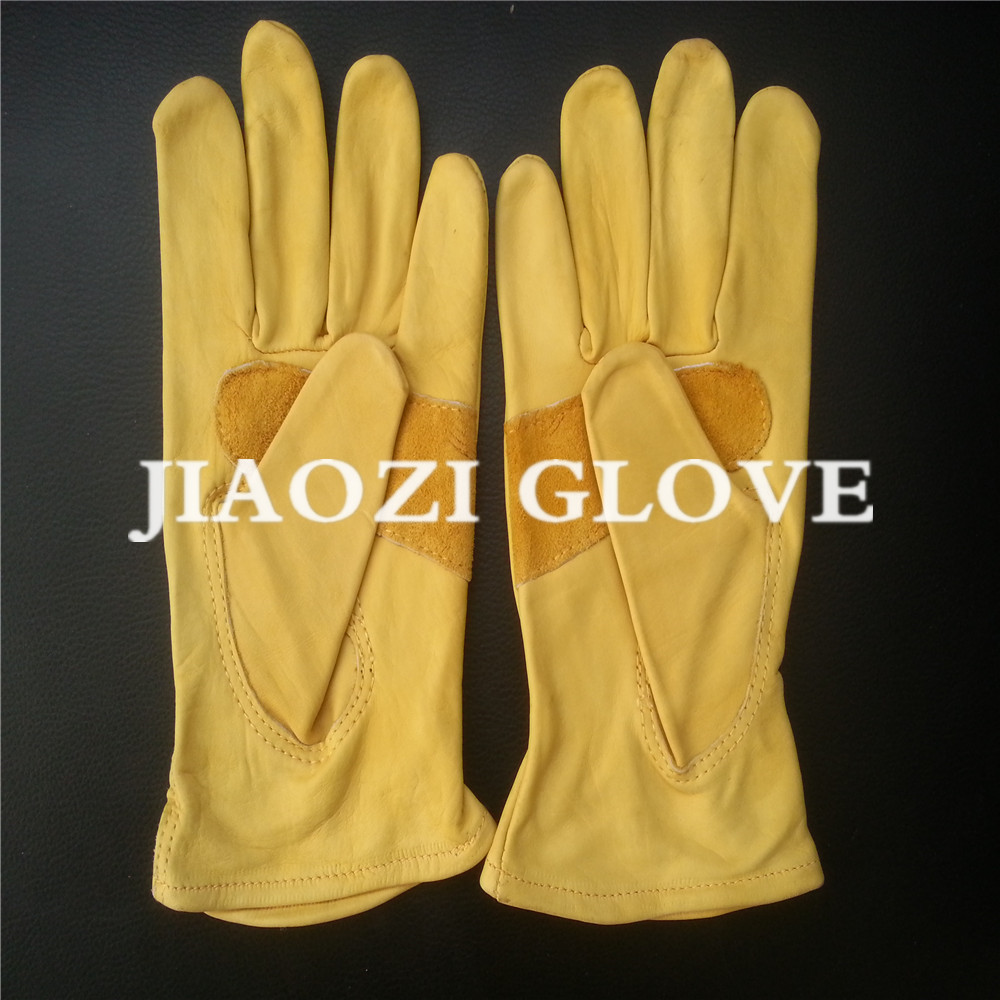 Ladies leather gloves yellow - Leather Working Hand Oil Field Safety Glove Safety Working Gloves Leather Working Hand Oil Field Safety Glove Safety Working Gloves Suppliers And