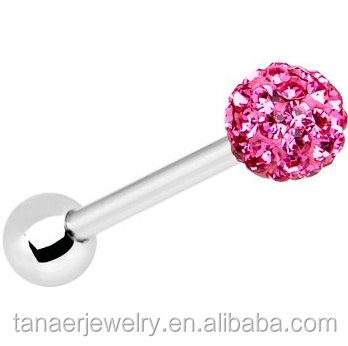 unique fashion design body piercing jewelry barbell tongue