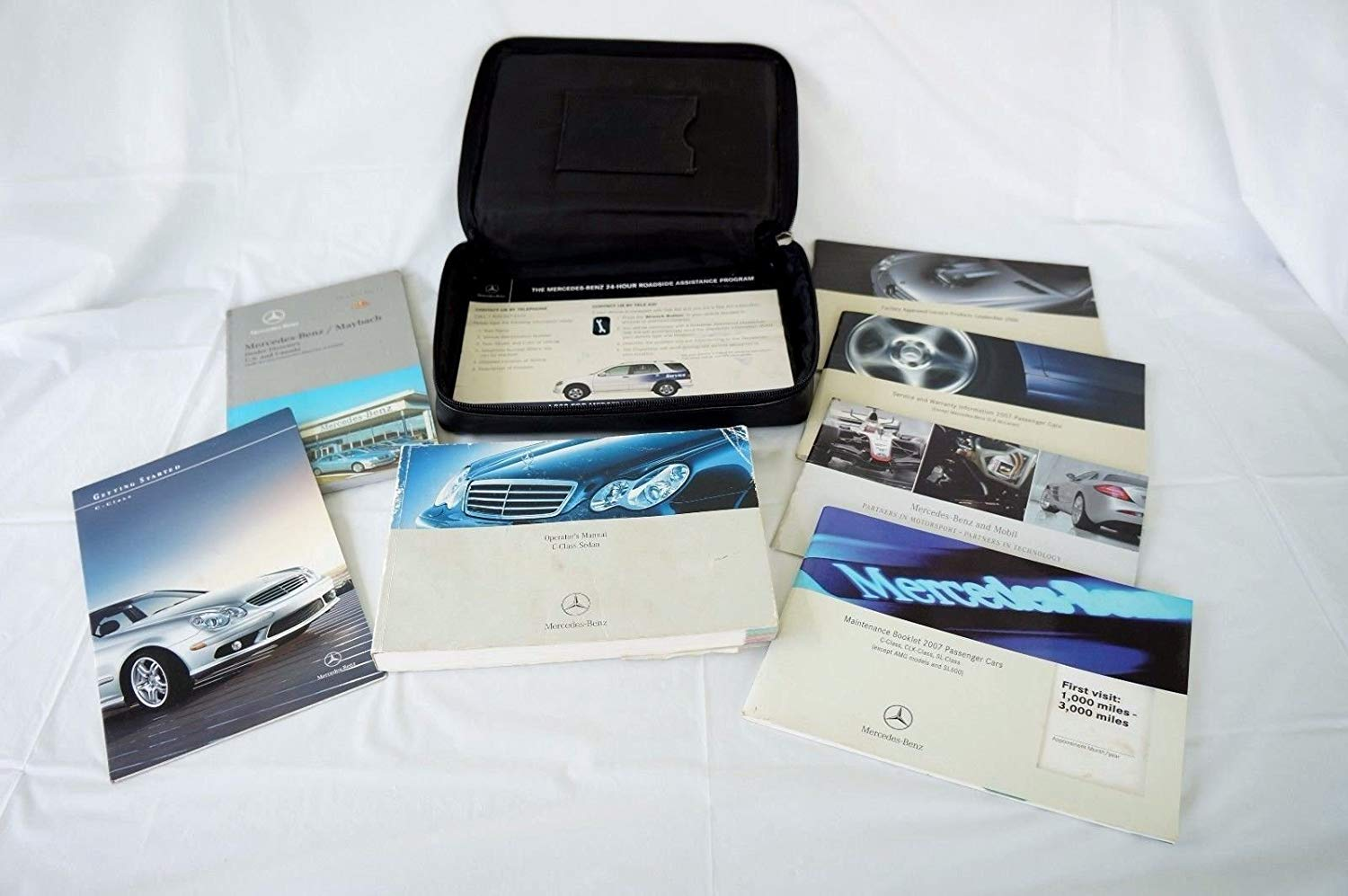 Get Quotations · Mercedes C Class Owners Manual Set with Leather Case Books  Glove Box Set