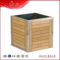2015 new outdoor wood metal planters