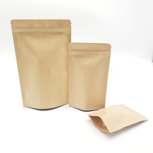 Snack/Tea/Coffee Packaging Retail Low Price Stand up Kraft Paper Bag Pouch with Ziplock