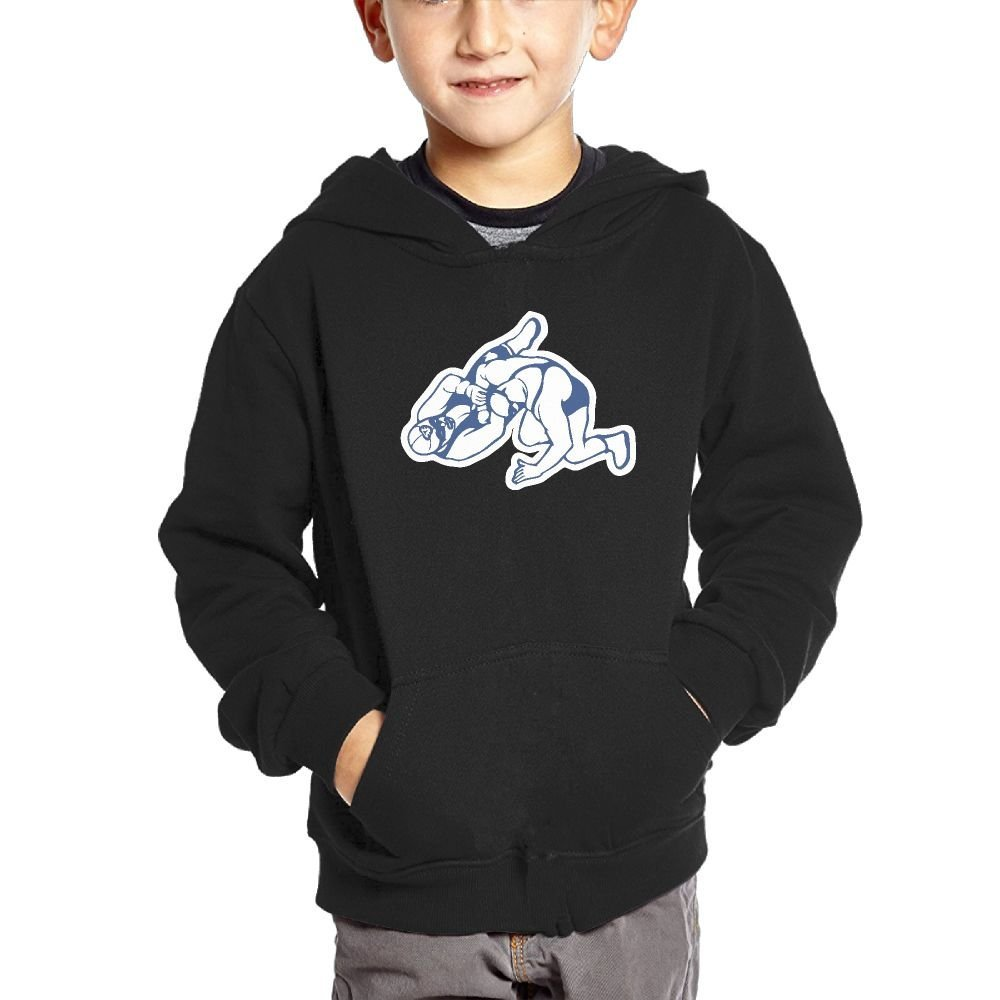 Wrestling Funny Youth Casual With Pocket Hoodies Graphic Pullover Sweatshirts