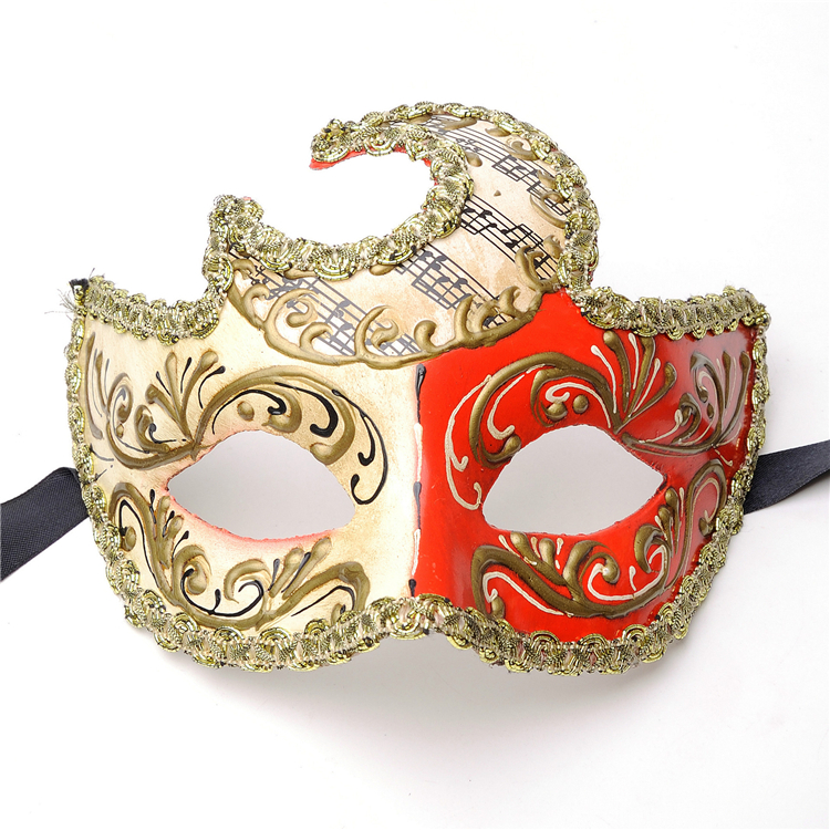 PoeticExst การออกแบบที่ไม่ซ้ำกัน Unisex Masquerade Mardi Gras ทนทานคุณภาพเครื่องแต่งกายอุปกรณ์เสริม hip hop dance หน้ากากใบหน้า