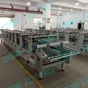 Fully automatic transparent PVC PET box packages gluing machine factory