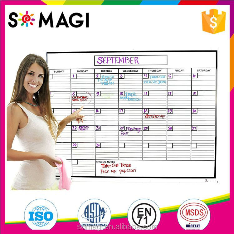 Amazon Popular Weekly magnetic Planner board Magnetic Refrigerator Monthly Calendar Dry Erase WhiteBoard Planner