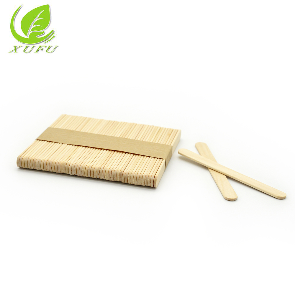 China factory wholesale disposable wooden stick ice cream sticks art and craft