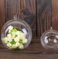 large size glass terrarium ball hanging terrarium glass vase