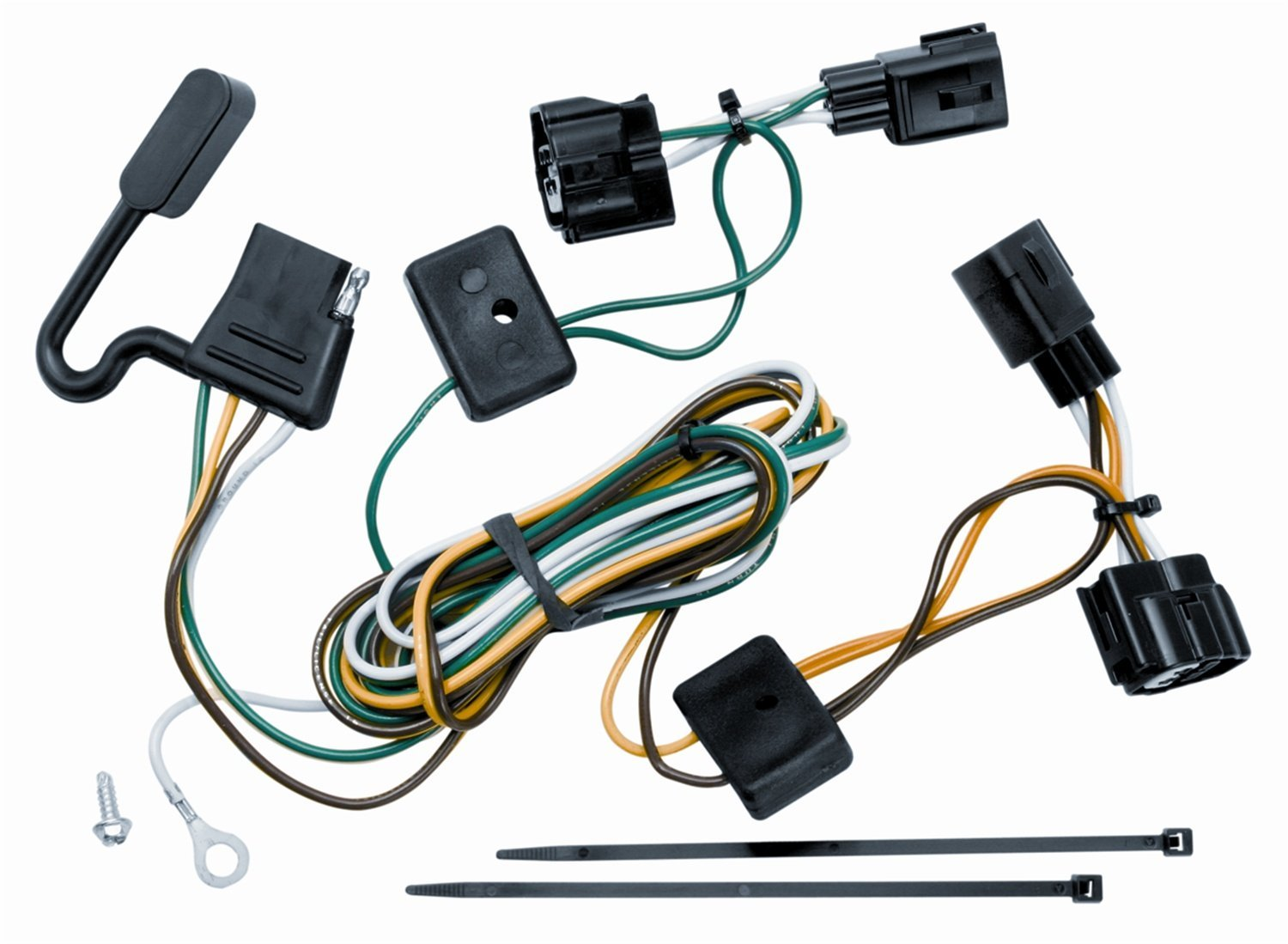 Get Quotations · Vehicle To Trailer Wiring Harness Connector 98-06 Jeep  Wrangler + Unlimited & TJ