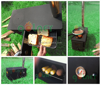 Out Door Bbq Mini Wood Stove Portable Wood Stove Tent Wood