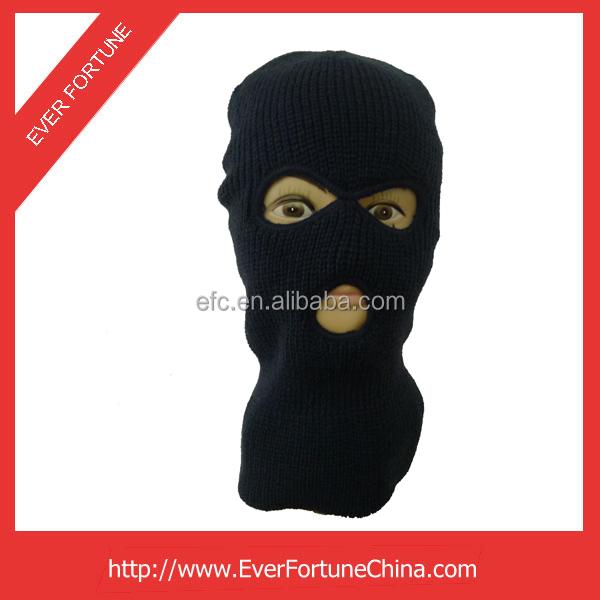 Una Cálida Invierno Negro Sombrero De Máscara De Esquí Con 3 ...