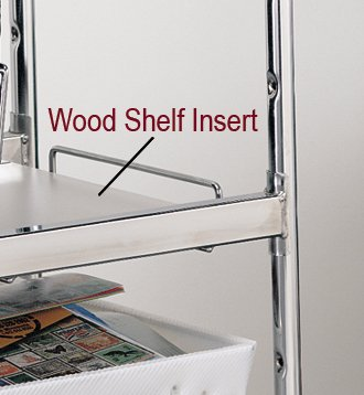 Charnstrom Laminated Wood Shelf Insert for Medium Wire Carts, White (2364)