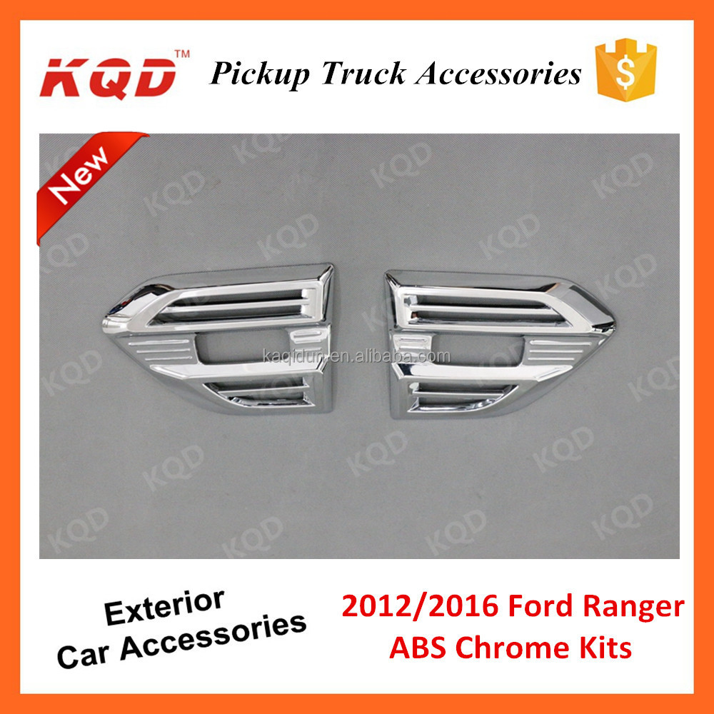 * ABS Plastic Chrome Plating Car Side Vent Cover For Ranger T6 2016 Accessories New Ranger Pickup Side Light Cover