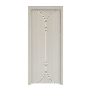 Mdf-pvc Cheap Interior Used Solid Wooden Door