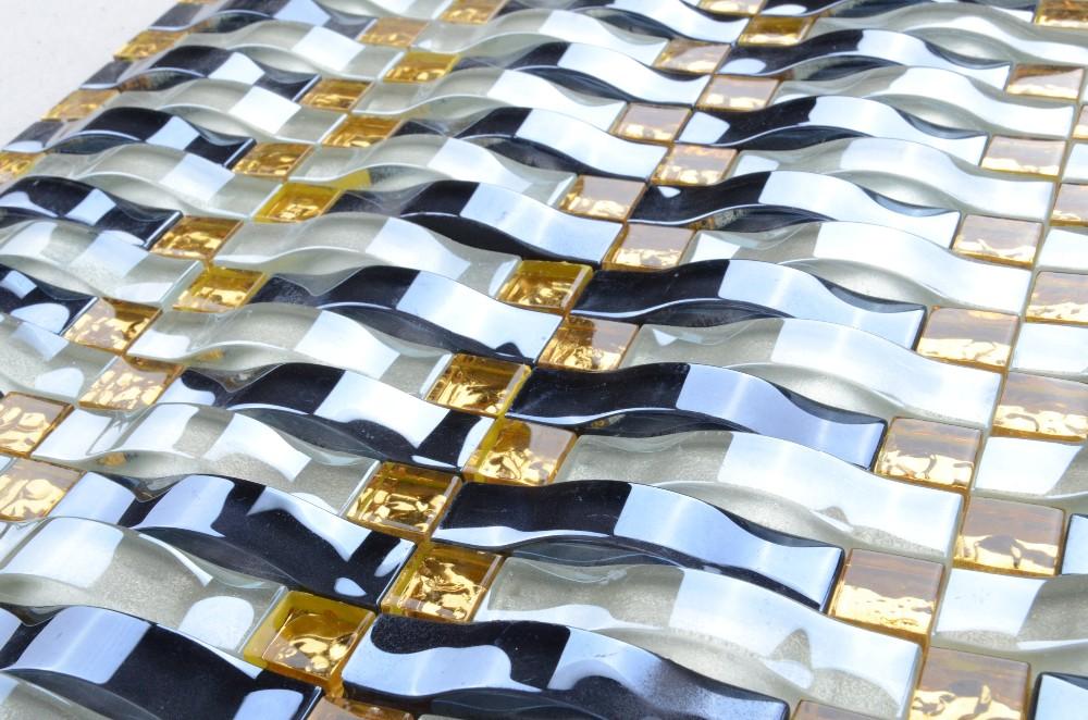 Md specchio adesivo piastrelle verdi vetro mosaico piastrelle