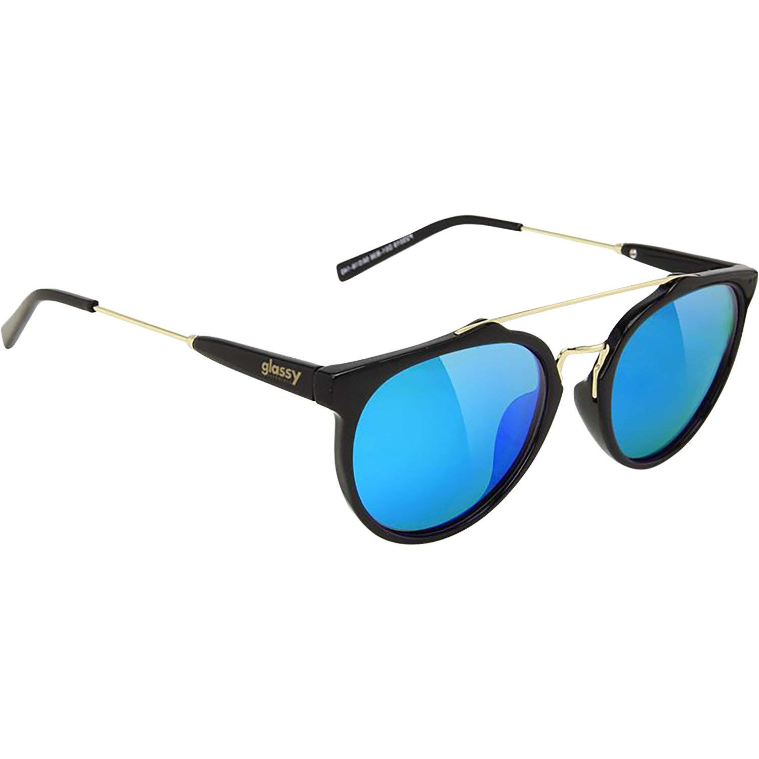 1a04063a88 Get Quotations · Glassy Sunhaters Chuck Black   Blue Mirror Sunglasses