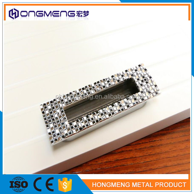 decorative zinc alloy wardrobe door handles