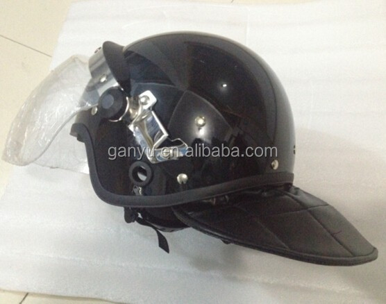 anti riot helmet with gas mask hang