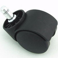 2 Inch Plastic With tube Office Chair Caster Wheel Without Brake Swivel type