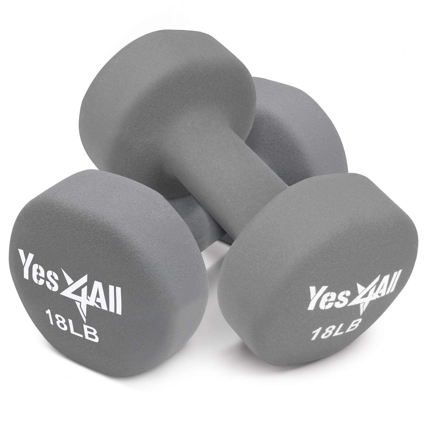 501359e7a67 Get Quotations · Yes4All Deluxe Neoprene Dumbbells (A Pair) – Multi Color    Weights Available