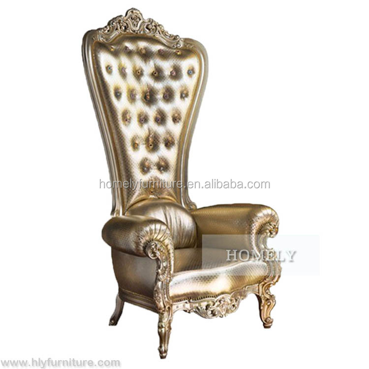 Baroque Chair Antique Classic high back king chair for wedding HY-K118